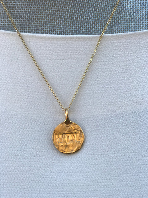 Gold Plated Necklace | MG2551 - Artizen Jewelry