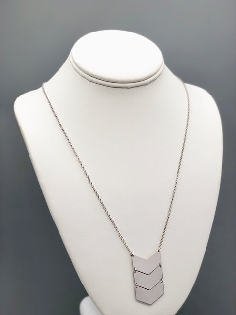 Chevron Silver Necklace - Artizen Jewelry