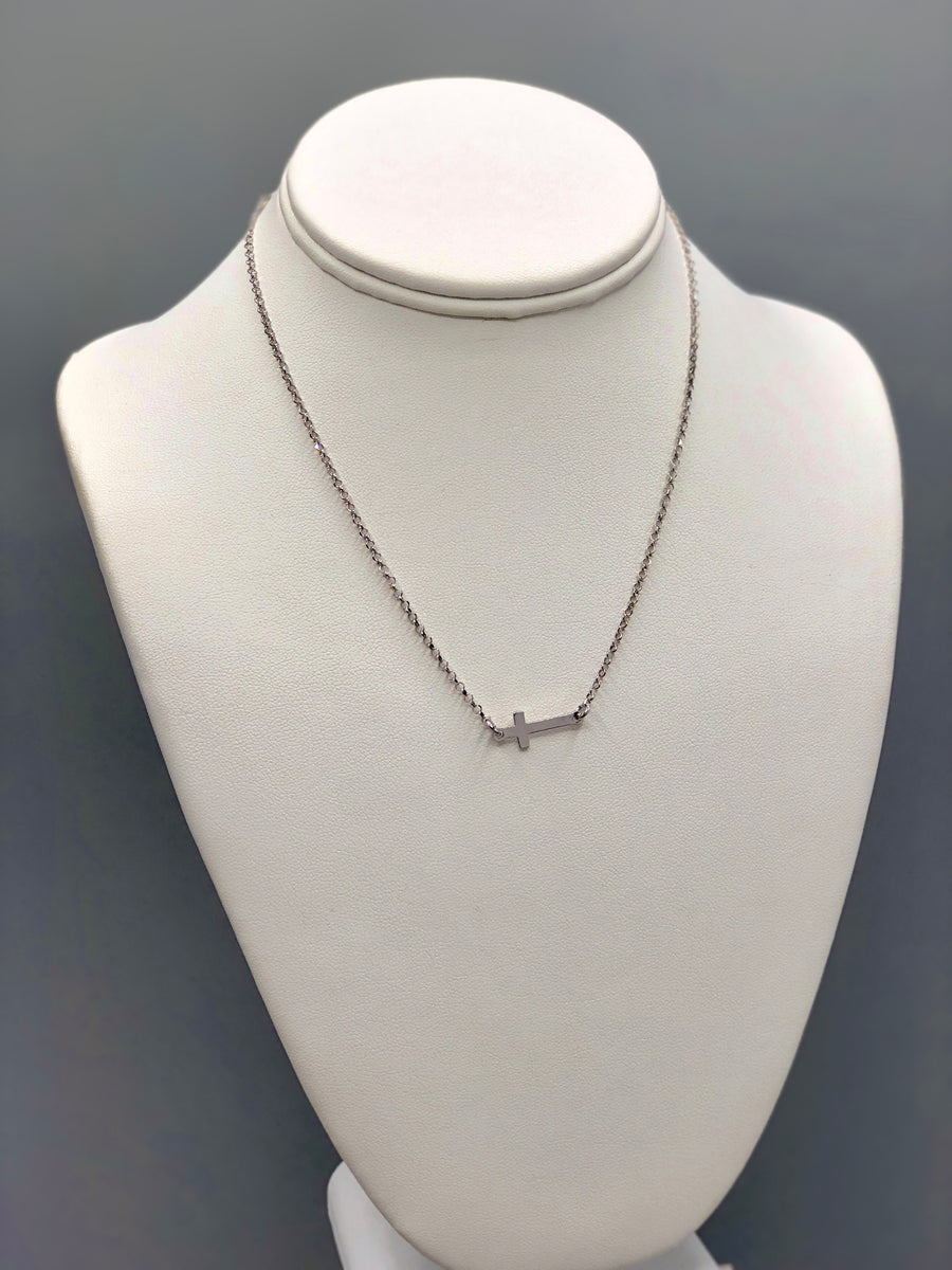Cross Station Silver Necklace - Artizen Jewelry