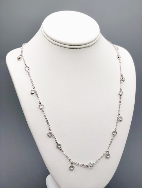 Silver Necklace with Swarovski Crystals - Artizen Jewelry