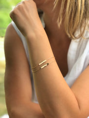 Double Bar Bracelet - Artizen Jewelry