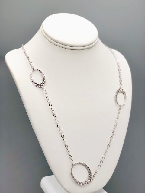 Diamond Cut Flower Silver Necklace - Artizen Jewelry