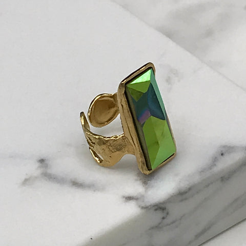Gold Plated Ring | MG5238 - Artizen Jewelry