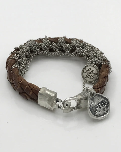 Leather & Silver Bracelet - Artizen Jewelry