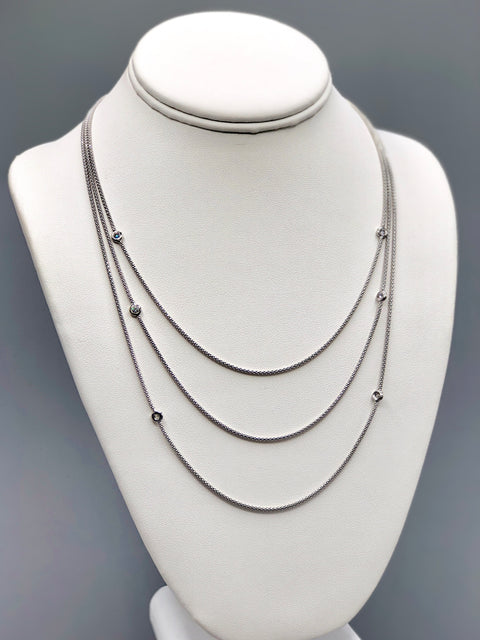 Multistrand Mesh Silver Necklace - Artizen Jewelry