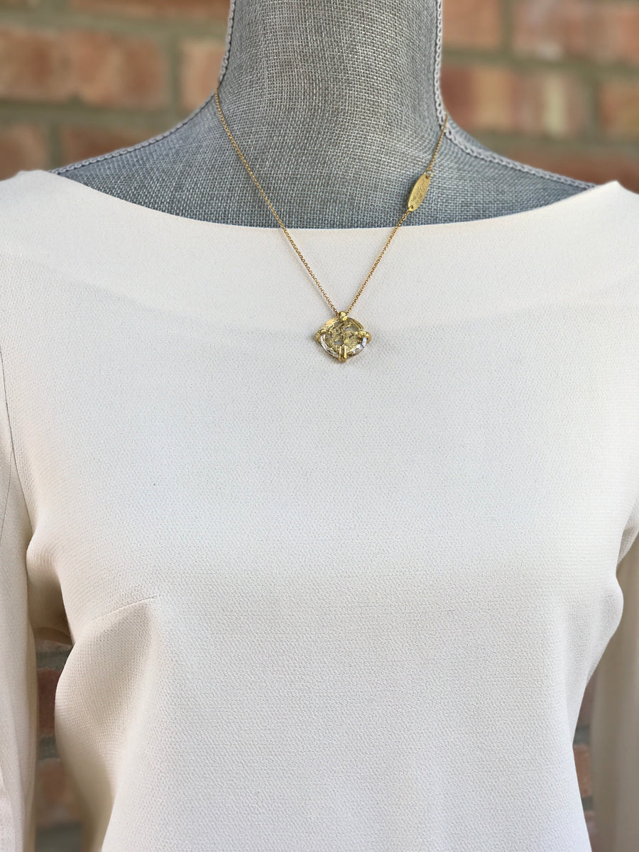 Gold Plated Necklace | MGA2534 - Artizen Jewelry