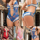 Caged Lace Teddie with Straps - FREE (Limited Time Offer)