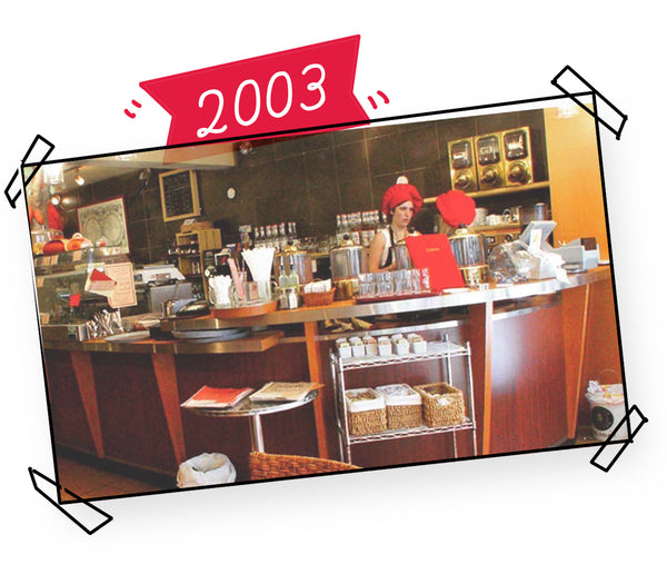 And so in 2003, when I was 22, I opened the first<br />chocolate bar in Quebec!