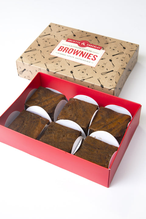 Gift box of 6 Spiced Pumpkin Brownies