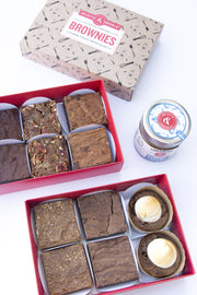 Juliette's 12 brownie set and his spread