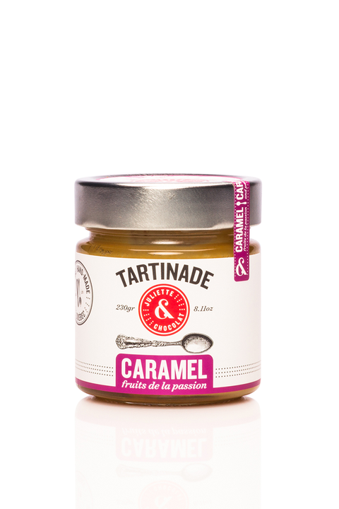 Tartinade Caramel et Fruits de la passion par Juliette & Chocolat