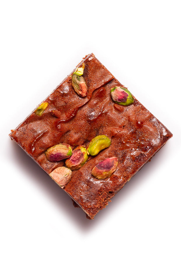 Pistachio-Cranberry Brownie