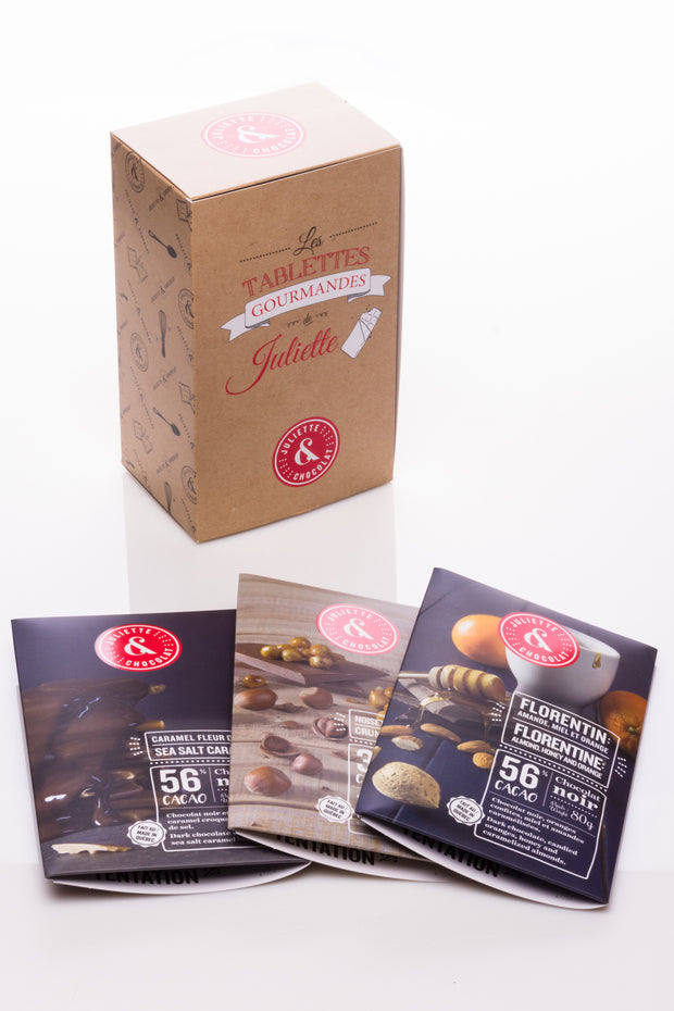 Coffret 3 tablettes de chocolat : Le gourmand