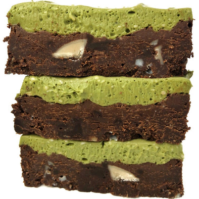 Paleo Mint Matcha Brownies