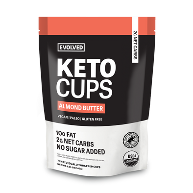 ALMOND BUTTER KETO CUPS POUCH - 7 CUPS