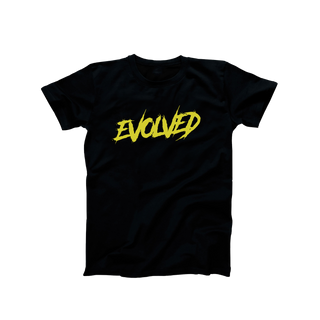 Black Evolved Mania T-Shirt - Yellow Logo