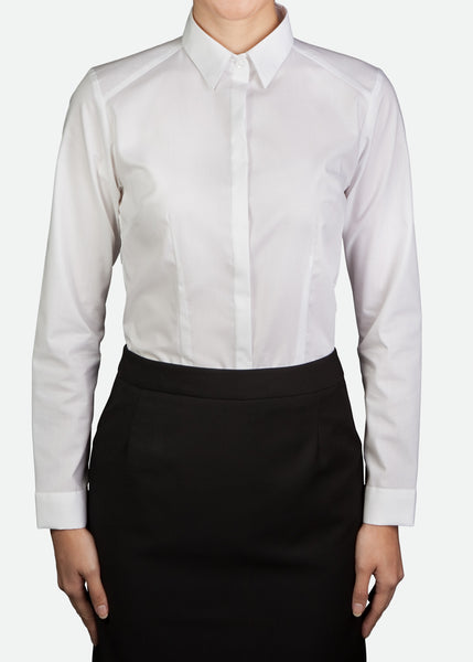 FBL024 Women's Blouse, Stand Collar