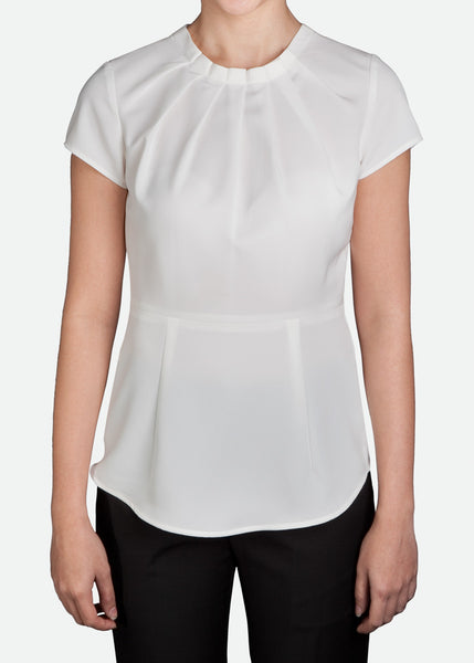 FBL010 Women's Blouse with Knife Pleat
