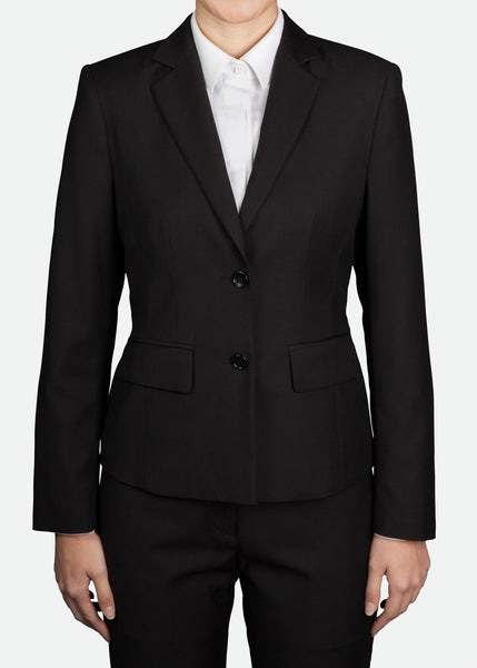 FBZ001 Women's Classic Two-Button Jacket with Notch Lapel Regular Fit