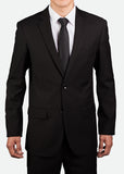 MBZ004 Men's Classic Two-Button Jacket with Notch Lapel, Regular Fit