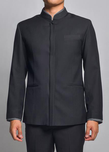 MBZ018 Men's Banquet Jacket with Detachable Collar