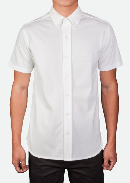 MPL002 Men's Easy-Care Short Sleeve Pique Shirt [ CLEAR STOCKS ]