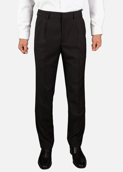 MPT003 Men's Classic Two-Pleat Pants, Regular Fit