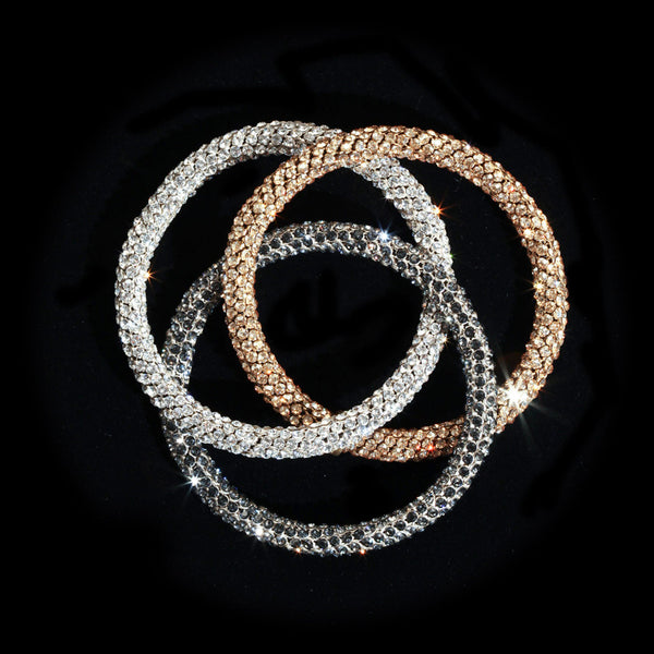 Swarovski Crystal Mesh Trinity Bangle