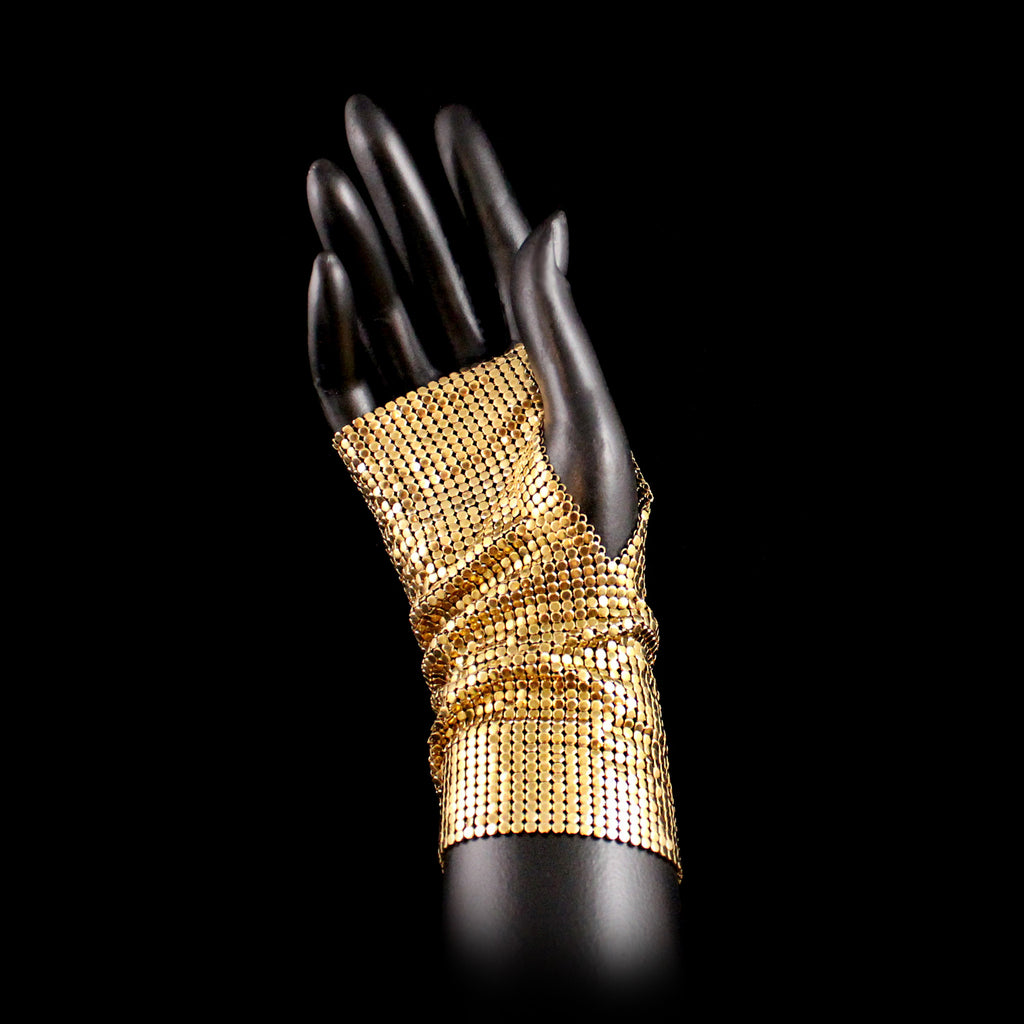 Metal Mesh Fingerless Glove