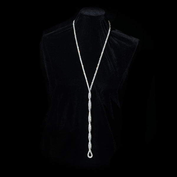 Narrow Swarovski Crystal Mesh Rope Necklace