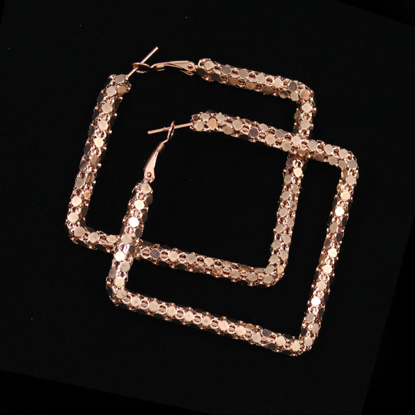 Metal Mesh Square Earrings