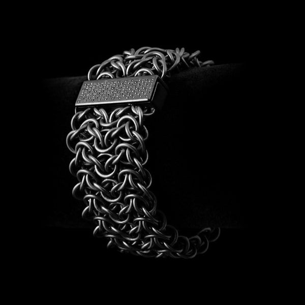 Diamondback Bracelet with Pavé Clasp