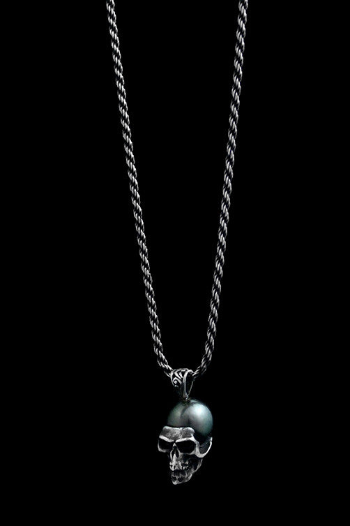 Tahitian Pearl Skull Necklace