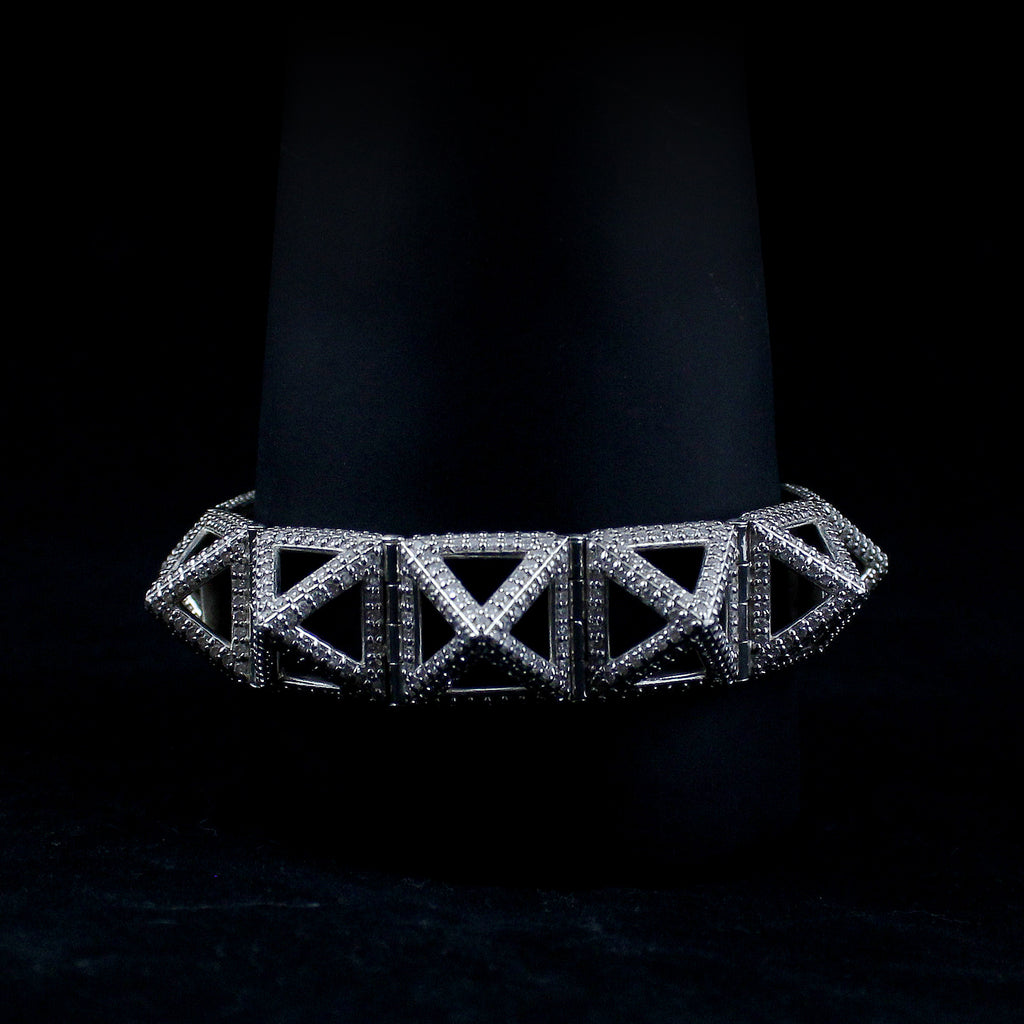 Diamond Pyramid Bracelet