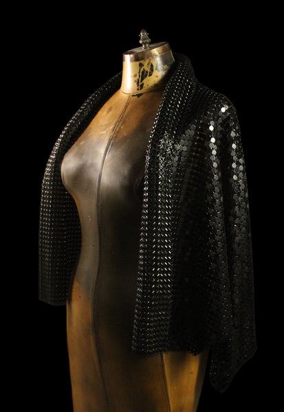 Metal Mesh Shrug Jacket