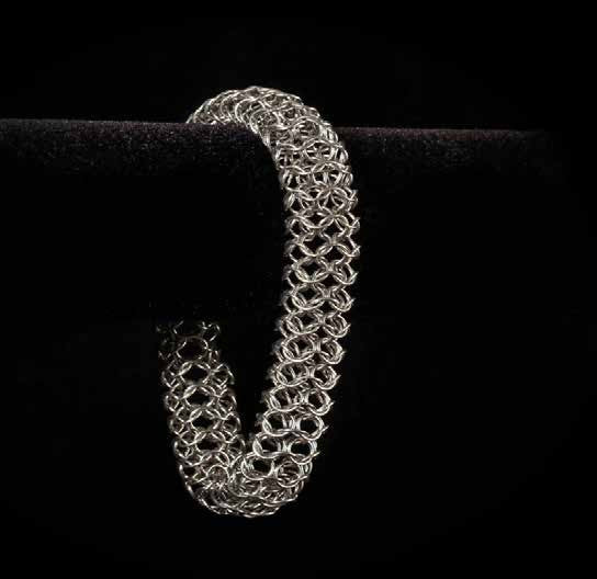 Chainmail Large Mesh Bangle