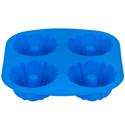 Easy-Flex Silicone Mini Fluted 4 Cavity Tube Pan