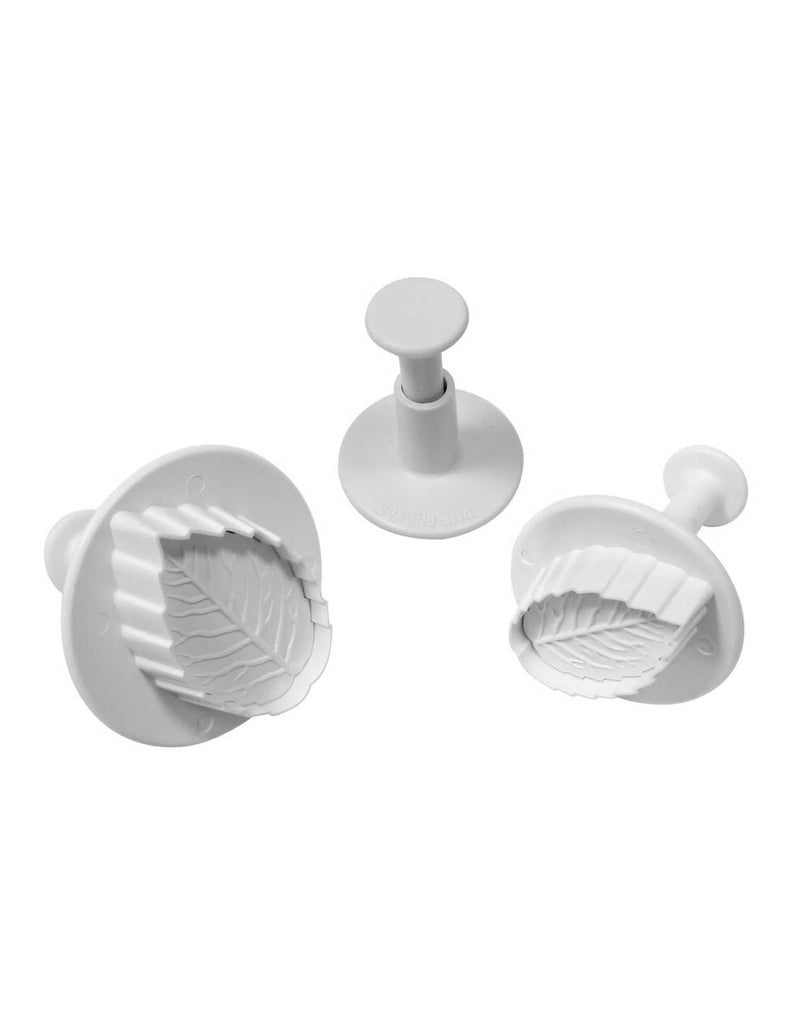 Veined Rose Leaf Plunger Cutters