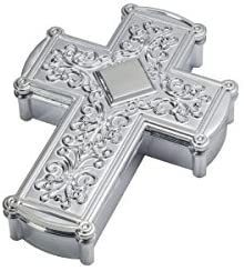 Cake Topper - Silver Cross