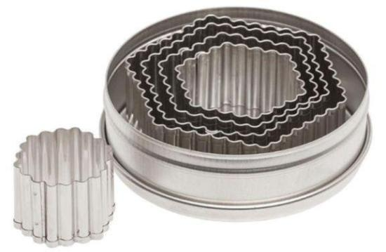 5 Piece Fluted Hexagon Cutter Set