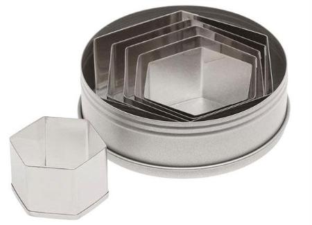 Plain Hexagon Cutter Set