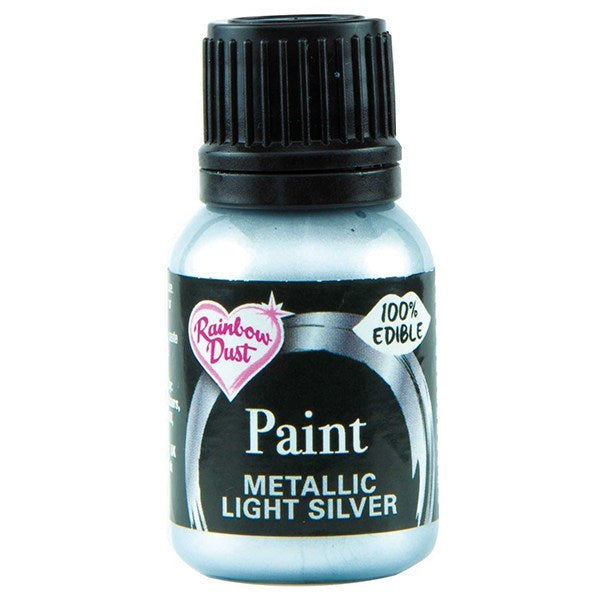 Metallic Food Paint - Light Silver