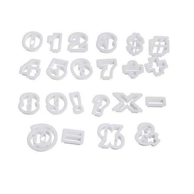 22 Piece Numbers Cutter Set