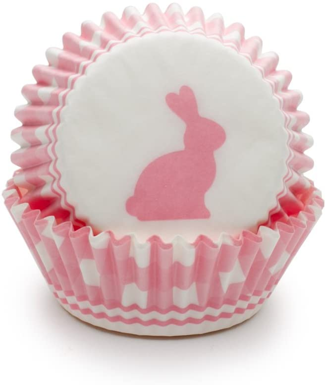 Standard Cupcake Liners - Pink Bunny