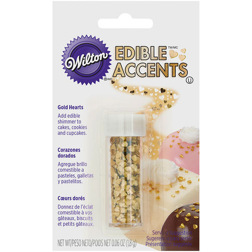 Edible Accents - Gold Hearts