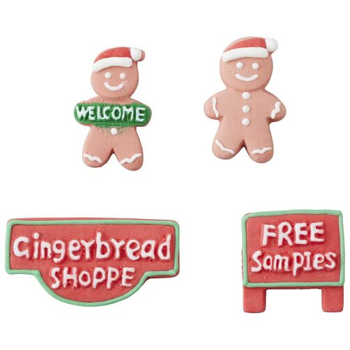 Candy Decorations - Signs And Gingerbread Man