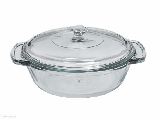 Fire-King 2 Qt. Casserole with Glass Cover