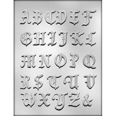 Alphabet Chocolate Mold