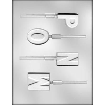 Alphabet M,N,O,P Chocolate Mold