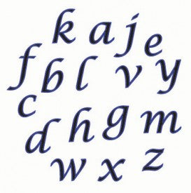 Alphabet Set Lower Case Script